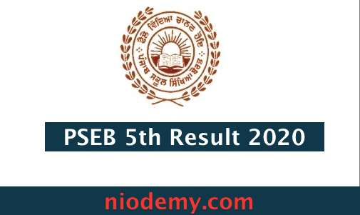 PSEB 5th Result 2020