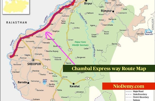 Chambal-Expressway-Route-map