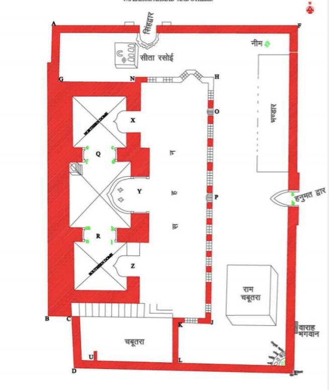 Ram Janmabhoomi Site Map