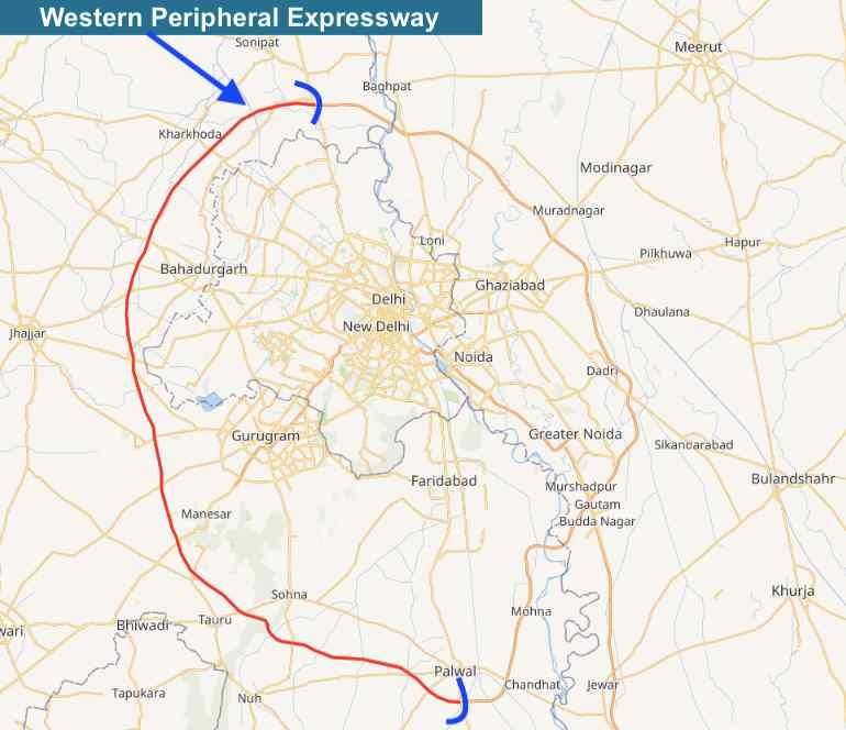 Western Peripheral Expressway, KMP Expressway, Kundli Manesar Palwal Expressway