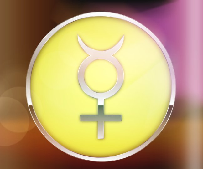 Sign of Mercury planet