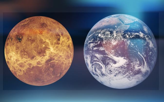 Solar System : Venus Planet and Earth Planet