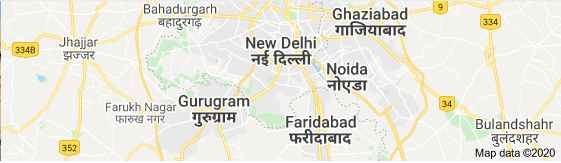 Delhi Map, Capital of India Map