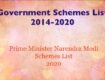 Government schemes List, Prime Minister Schemes List, Government schemes List 2020
