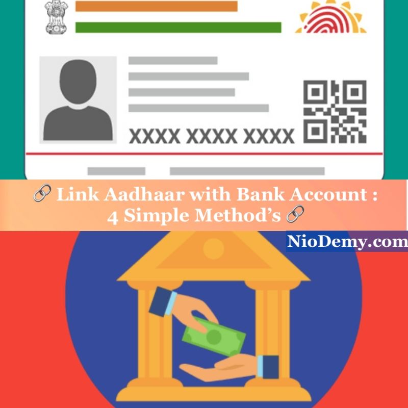 Link Aadhaar with bank account, How to Link Aadhar with bank account