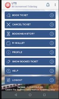 UTS App, Unreserved Ticket Book Online
