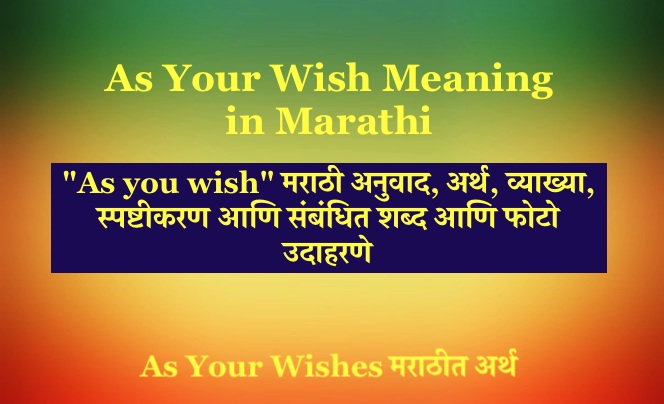As Your Wish Meaning in Marathi